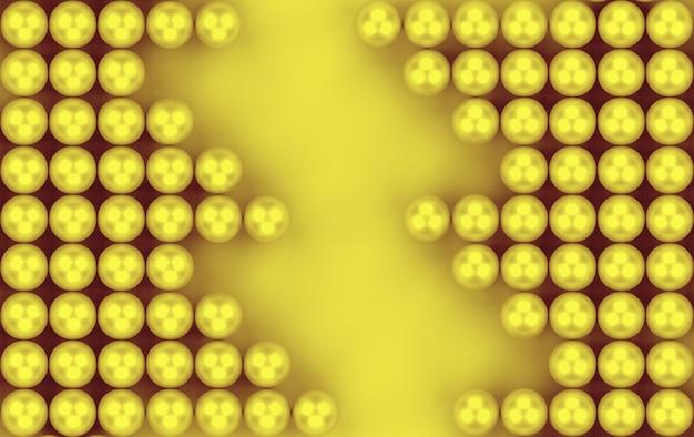 Rendu 3d. abstrait or sphère motif perle de fond. Photo Premium