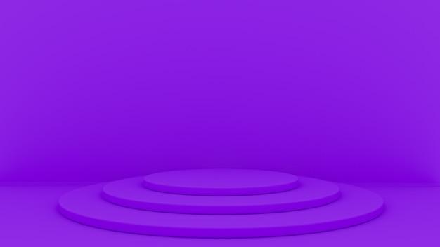Rendu 3d abstrait. plate-forme pour l'affichage du produit. podium intérieur. Photo Premium