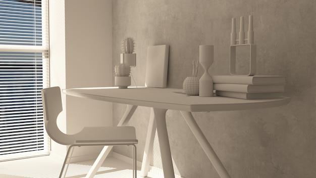 Rendu 3d d'un bureau à la maison moderne Photo gratuit