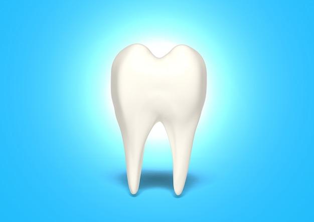 Rendu 3d dent propre pour la santé Photo Premium