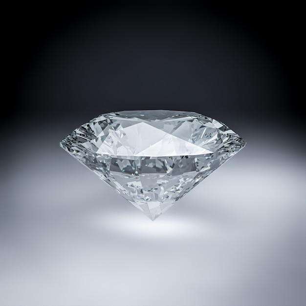 Rendu 3d De Diamant. Photo Premium