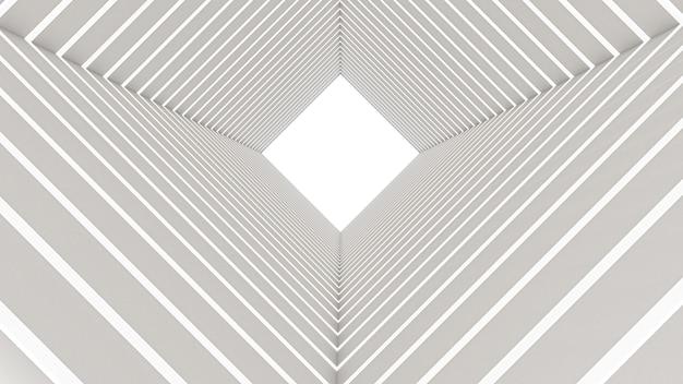 Rendu 3d Du Tunnel Rectangle Abstrait Photo Premium