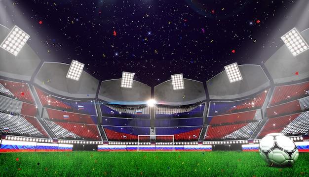 Rendu 3d de fond de stade Photo Premium