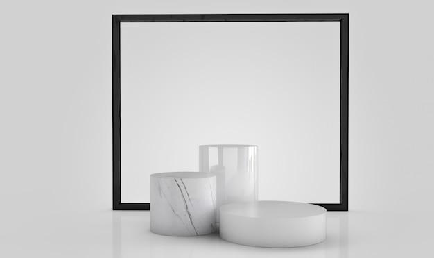 Rendu 3d de formes géométriques abstraites Photo Premium