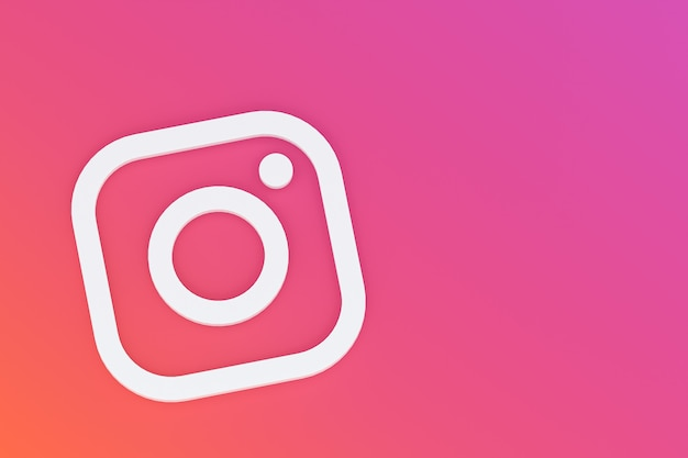 Rendu 3d De Logo Minimal Instagram Photo Premium