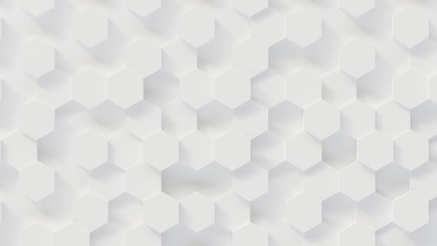 Rendu 3d Luxe Nouveau Fond, Nid D'abeille Blanc En Nid D'abeille, Illustration 3d Photo Premium