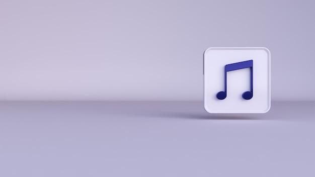 Le Rendu 3d D'une Musique De Notes Bleues Sur Fond Blanc Photo Premium