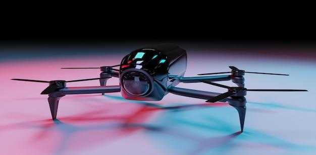 Rendu 3d Par Drone Moderne Photo Premium