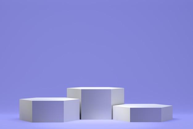 Rendu 3d, Podium Abstrait Minimal Pour La Présentation De Produits Cosmétiques, Forme Géométrique Abstraite Photo Premium