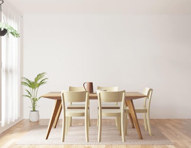 Rendu 3d de la salle à manger Photo Premium