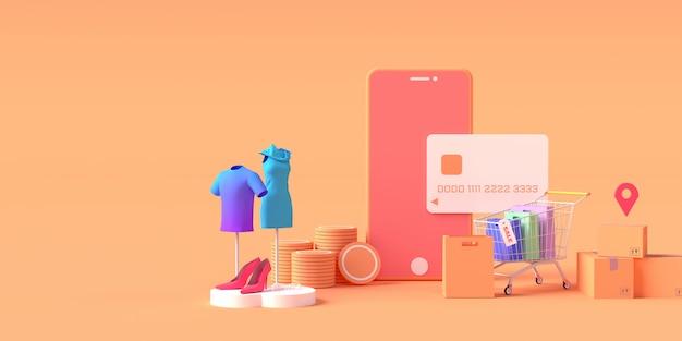Rendu 3d De Smartphone Avec Carte De Crédit Photo Premium