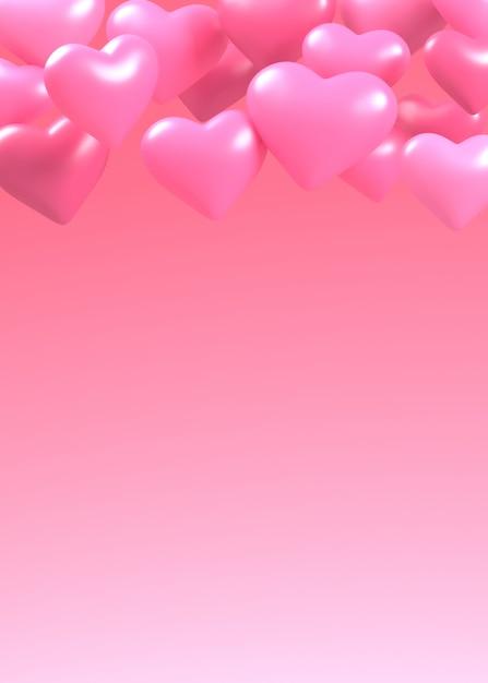 Rendu De Cœur à La Saint-valentin Photo Premium