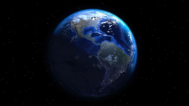 Rendu réel de la terre 3d Photo Premium