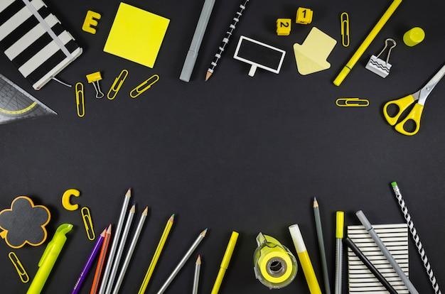 Rentrée scolaire fournitures scolaires Photo gratuit