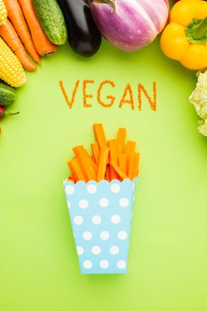 Repas de mode de vie sain sur fond vert Photo gratuit