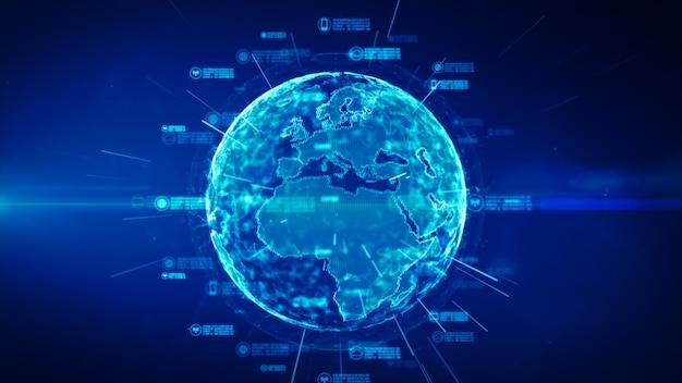 Réseau de données sécurisé. concept de cybersécurité et de protection des données personnelles Photo Premium