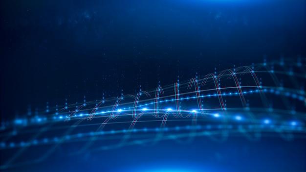 Réseau internet 5g. canal de transmission de données. Photo Premium