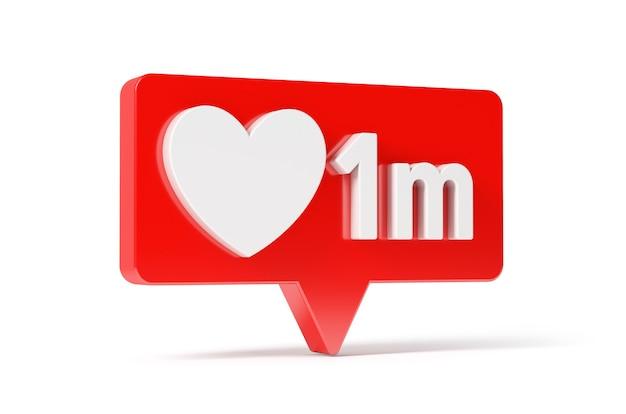 Réseau De Médias Sociaux Icône Love And Like Heart, 1 M Photo Premium