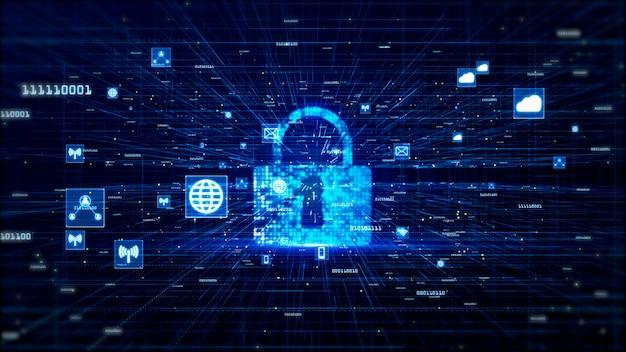 Réseau numérique données et communication réseau concept abstrait Photo Premium