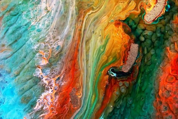 Résine époxy petri dish art abstrait Photo Premium