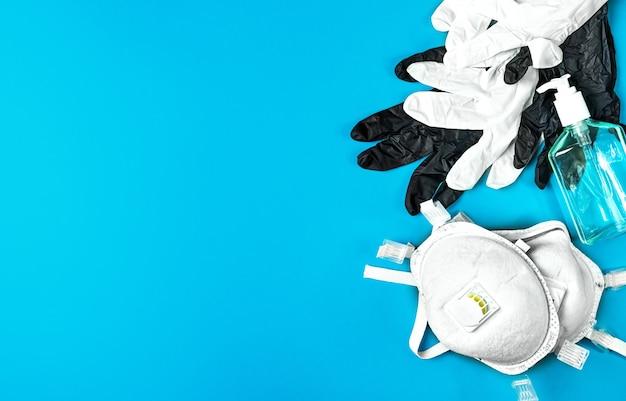 Respirateur De Protection Respiratoire, Gants En Latex Et Gel Antiseptique Photo gratuit