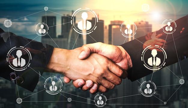 Ressources humaines et réseaux de personnes Photo Premium