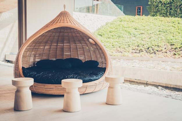 Restaurant filtre station terrasse en bois Photo gratuit