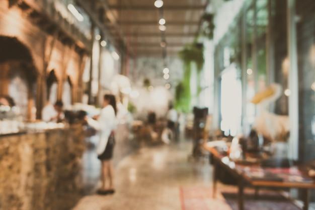 Restaurant Flou Abstrait Et Défocalisé Photo gratuit