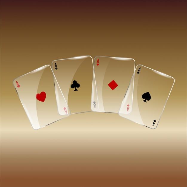 Résumé des cartes à jouer sur golden Photo Premium