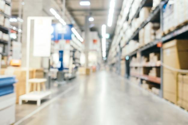 Résumé flou décoration de meubles et magasin entrepôt Photo gratuit