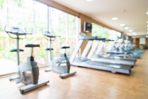 Résumé flou fond de gym et équipement de remise en forme Photo gratuit