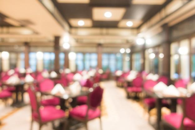 Résumé flou intérieur de restaurant pour le fond Photo gratuit