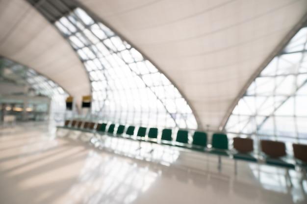 Résumé flou intérieur de terminal aéroportuaire Photo gratuit