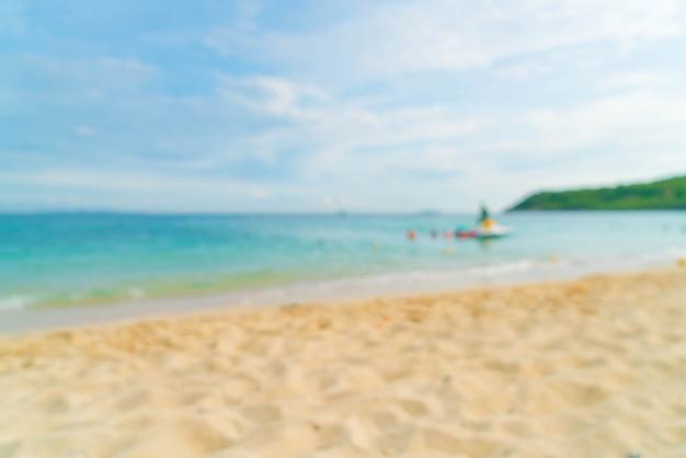 Résumé flou magnifique plage tropicale et fond de paysage de mer Photo Premium