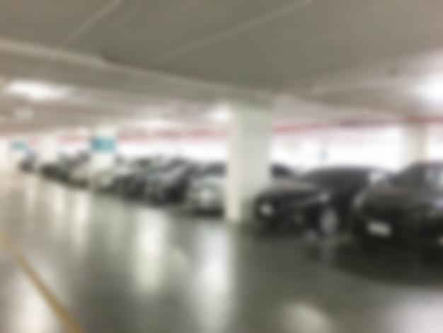 Résumé flou de parking Photo gratuit