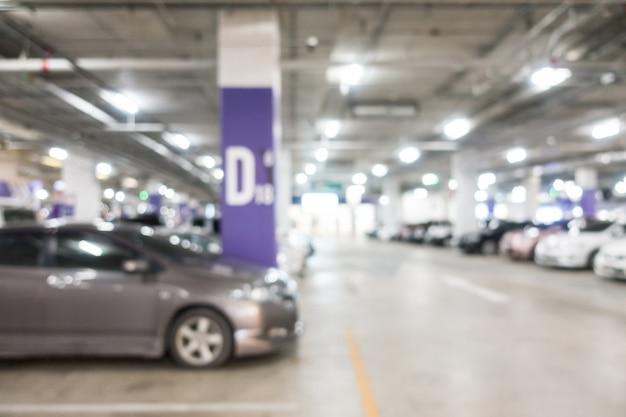 Résumé flou parking Photo gratuit