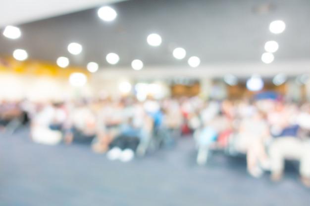 Résumé Flou Passager à L'aéroport. Photo Premium