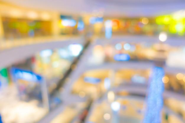 Résumé flou personnes dans un centre commercial Photo Premium