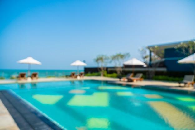 Résumé flou piscine extérieure Photo gratuit