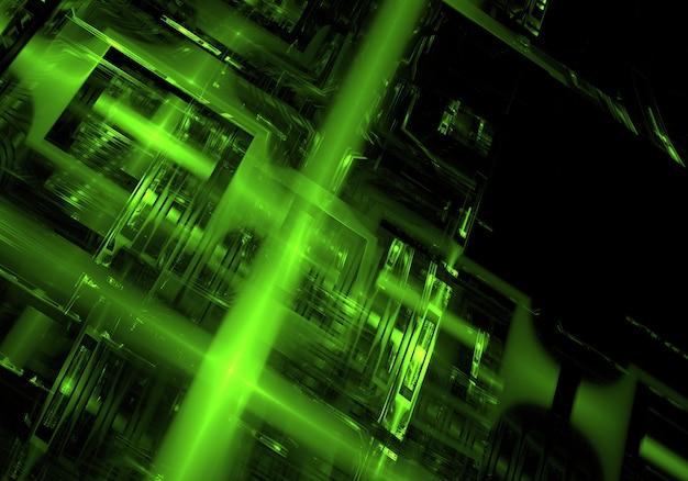 Résumé fond vert de la technologie Photo gratuit