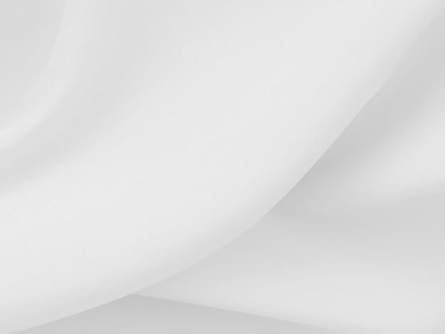Résumé De Fond De Vêtements Blancs Avec Des Vagues Douces. Photo Premium