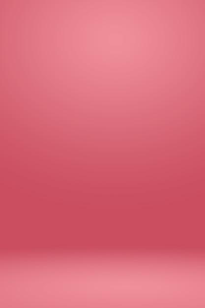 Résumé Light Pink Red Background Conception De Mise En Page De Noël Et Valentines, Studio, Pièce, Modèle Web, Rapport D'affaires Avec Une Couleur De Gradient De Cercle Lisse. Photo gratuit
