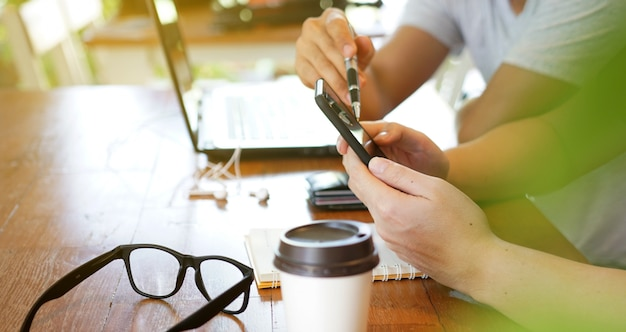 Réunion D'équipe Travaillant Au Nouveau Projet De Démarrage, Idées Pour La Nouvelle Stratégie, Concept De Croissance D'entreprise. Photo Premium