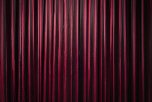 Rideaux rouges sur fond de théâtre Photo Premium
