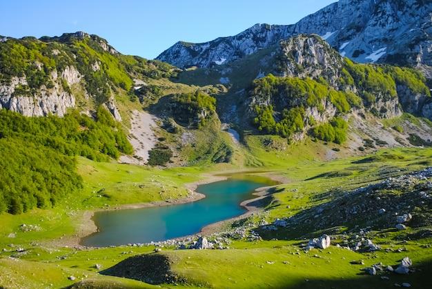 Rivières et lacs pittoresques du monténégro Photo Premium