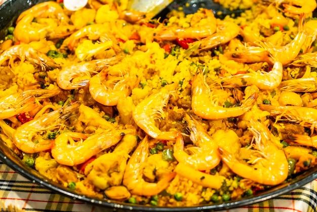 Riz Frit Au Curry Aux Crevettes Photo Premium