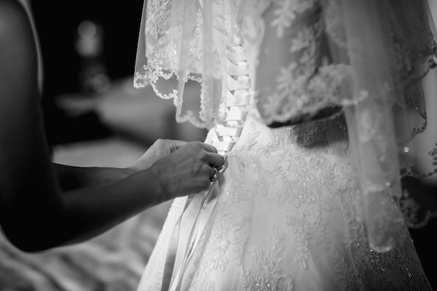 Robe de demoiselle d'honneur Photo Premium