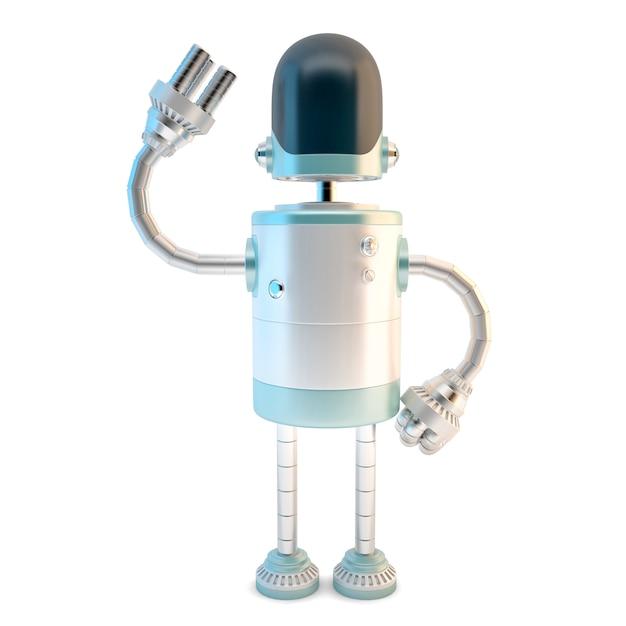 Robot agitant. illustration 3d Photo Premium