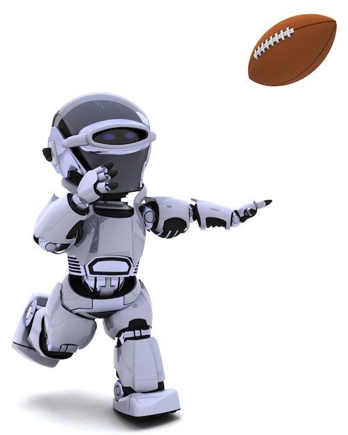 Robot Jouant Au Football Américain Photo gratuit
