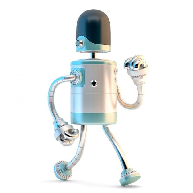Robot marcheur. illustration 3d Photo Premium
